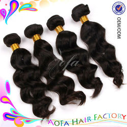 Wholesale virgin body wave 100% human hair for micro braids