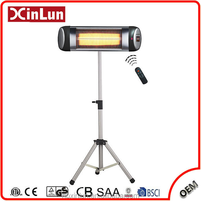 2017 New Room Heater 1500W Portable Quartz Infrared Electric Patio Heater