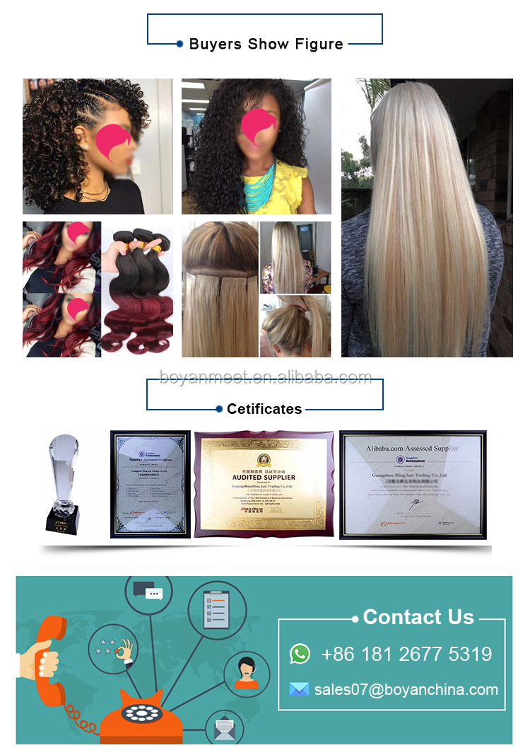 Hair bundles with lace blonde closure straight human hair weave grade 8a brazilian hair weaves