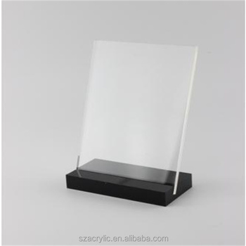 Acrylic poster holder display rack sign frame stand table advertising display