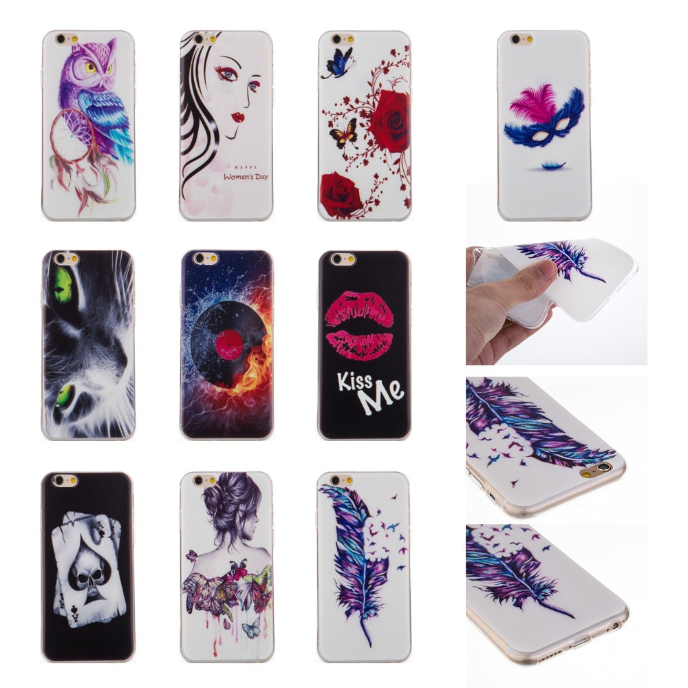 Soft TPU Custom Prinitng Cell Phone Case for Apple iPhone 6 Case for iPhone 6s Cover Alibaba China Wholesale