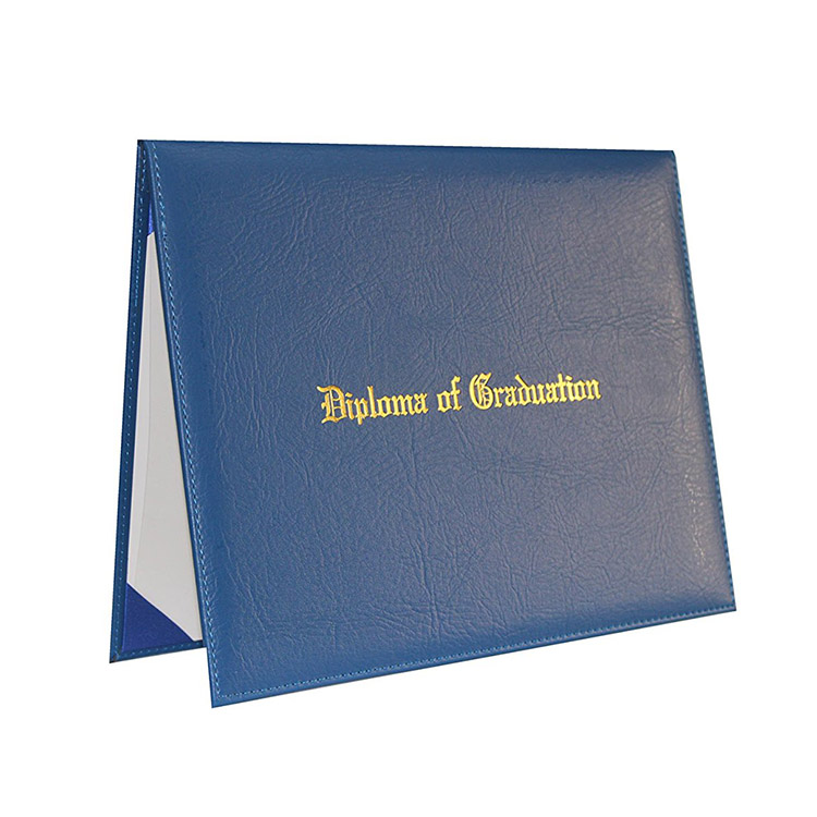China Shenzhen Supplier Custom A4 Certificate Holder Degree Leather Diploma Folder