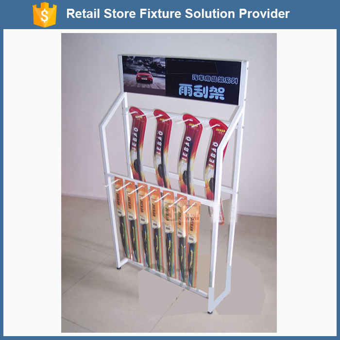 Car windscreen wipers metal hanging display stand for supermarket