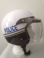 military helmet MOTORCYCLE OPEN FACE HELMET gloss police helmet fit with bubble visor