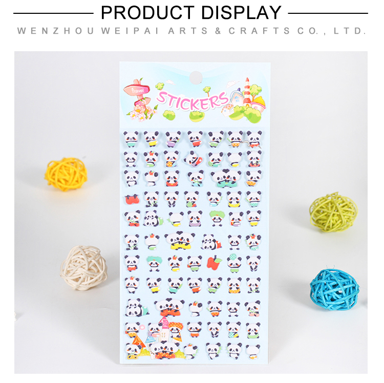 16 Sheets Cute Cartoon Custom Puffy Stickers  For Kids