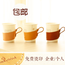 Handmade band high quality genuine nature leather cup holder
