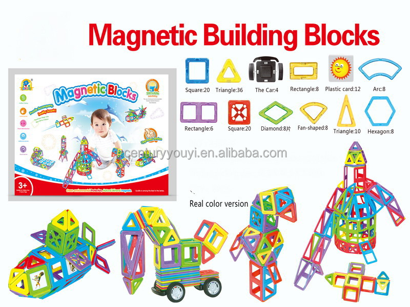 Hot Sluban Magnetic building block ABS plastic amazing toys construction toys for adults