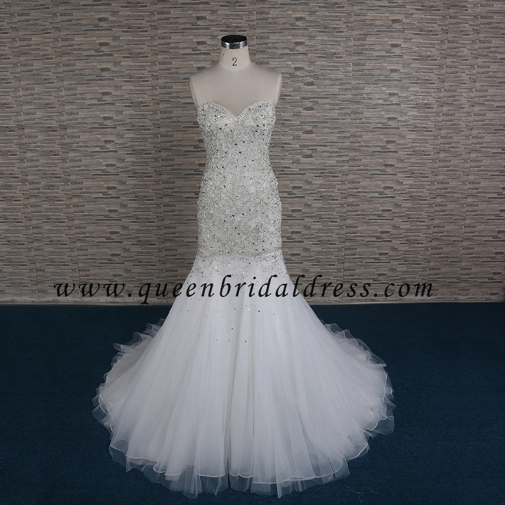 Honorable Western Heavy Handwork Crystals Beaded Mermaid wedding dresses