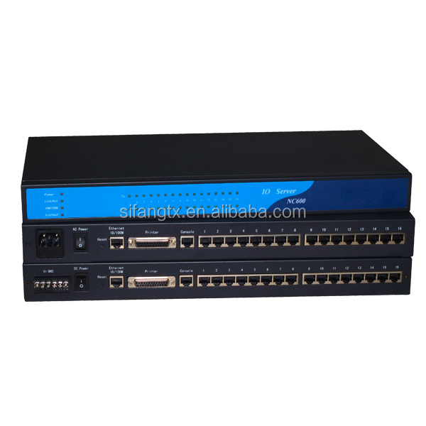 16 port RS 422 / 485 industrial serial server to TCP/IP Serve, rack
