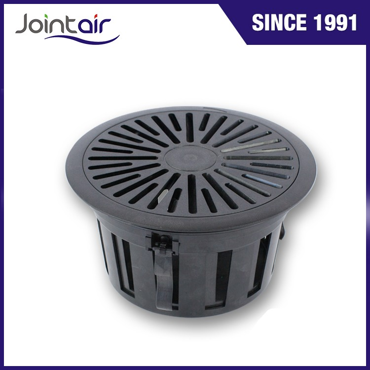 HVAC System Plastic PC Floor Swirl Register Vents Diffusers in Black Color