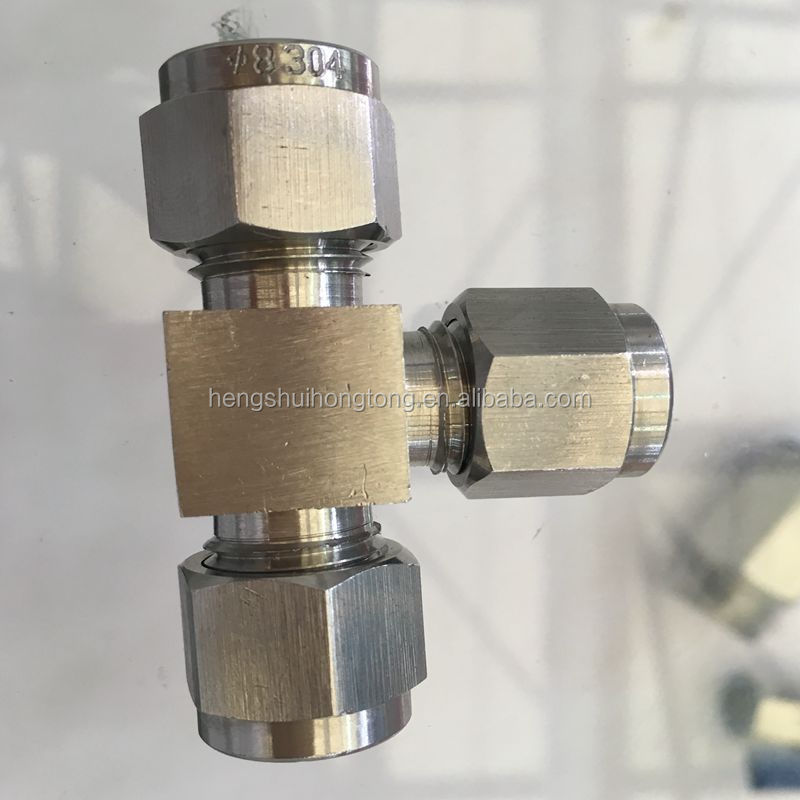 Instrumentation Double Ferrule Stainless Steel 316/304 Tube Fitting Straight Male Connector