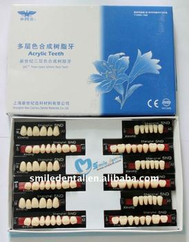 High Quality 3 layer false teeth full mouth