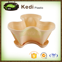powder coated foldable round plastic flower-stool or flowerpot shelf