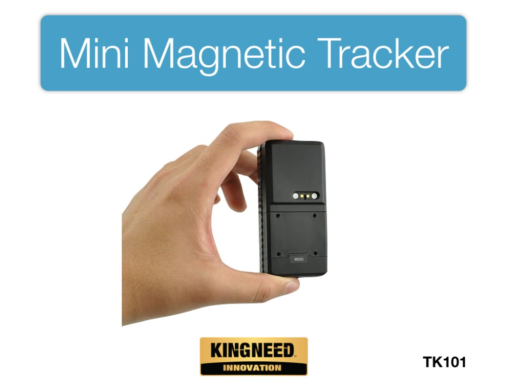 Mini hidden magnet gps tracker for person kids car with free app and web platform TK101 kingneed