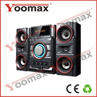2.1 wireless speakers surround home theater - high power 2.1 channel system for home use,USB,SD,FM remote control,LED Display