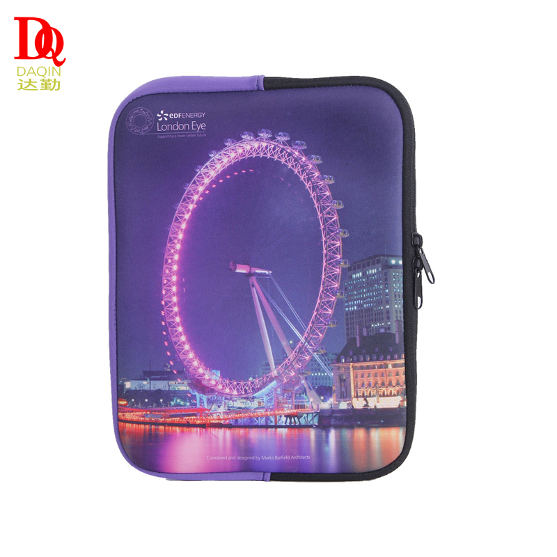 Wholesale fashion custom printed waterproof neoprene laptop sleeve bag for ipad