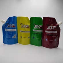 Safety Liquid spout pouches, plastic food packaging , spouted standing up bags