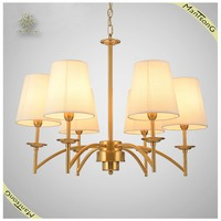 Home indoor lighting classic cloth shades hanging chandelier pendant light