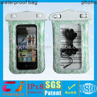 2015 fashional cute plastic waterproof phone bag for iphone 5