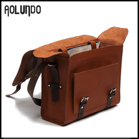 Vegetable Tanned Leather Shoulder Bag Leather Messenger Bag