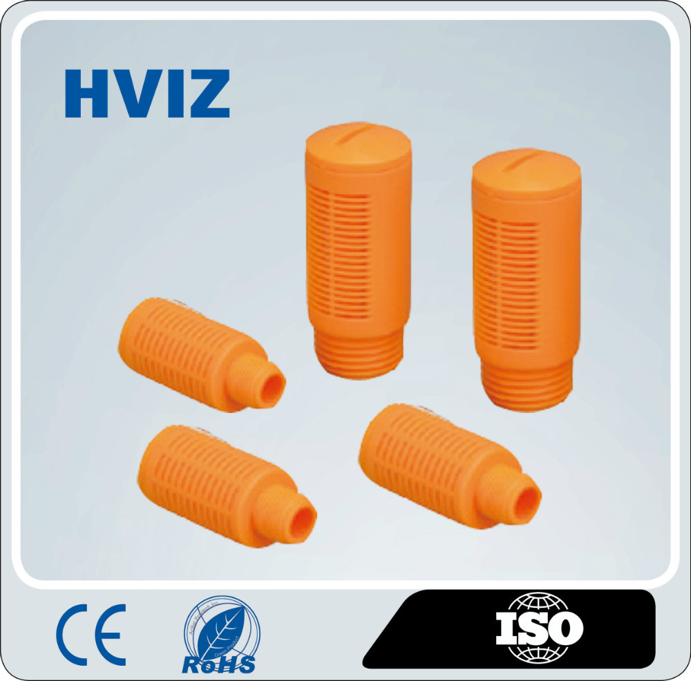 HVIZ the plastic quick connect pneumatic fitting of plastic pneumatic muffler silencer/HAL