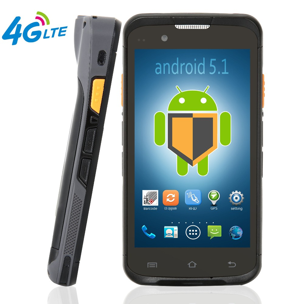 android 5.0 4G LTE NFC GPS Industrial pda barcode scanner data collector
