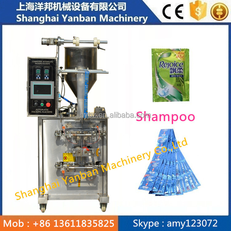 Hot Sale Shanghai YB -150J Automatic Shampoo Pouch Filling Shower Gel Packing Machine