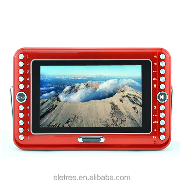China wholesale portable dvd player with tv tuner and radio for Entertainment EL-610