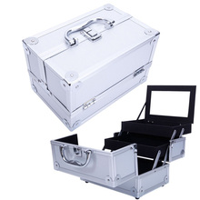Professional unique girls makeup travel beauty aluminum jewelry box for gift display