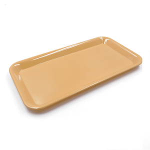 Rectangular Christmas Printed Custom Melamine Plastic Food Serving Tray