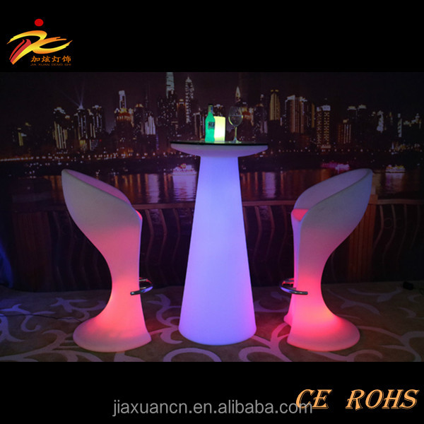 Waterproof outdoor garden use LED coffee table, led tea table