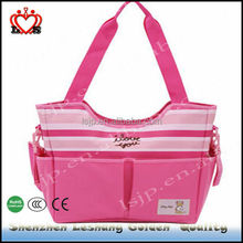 Han edition leisure high-capacity baby love diaper bag,pink baby cute diaper bags