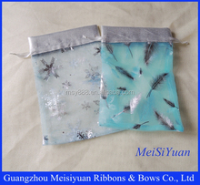Drawstring Bags With Printed Logo/Custom Organza Bags/Small Gift Bags