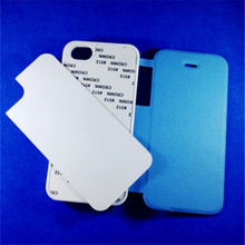JESOY Sublimation Blank Leather Flip Mobile Phone Cover Case For iPhone 5 5c 6 Sublimation Cover