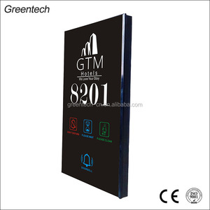 Touch screen hotel room number signs door plate electronic doorplate with room number House Number Door Plate