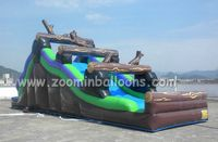 Top quality monster wave inflatable water slidefor sale Z3012
