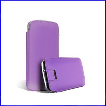 Wholesale top quality leather pull tab Pouch Case for thl w3