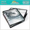 Eco-friendly Clear PVC Printed A5 Zipper File Folder Bag With 2 Pockets