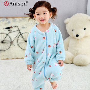 china cheap unisex toddler crawling clothes with zipper fleece baby girl rompers and baby onesie pajamas for winter