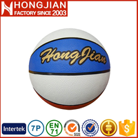 HB008 durable rubber bladder basketball with wide channel design