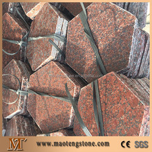 High quality floor tiles paving china red hexagon granite paver