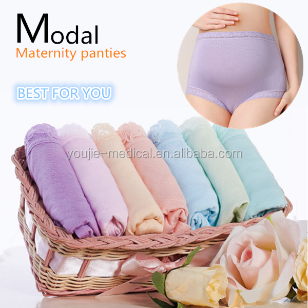 Private label high waist modal maternity panties underwear for pregnant women