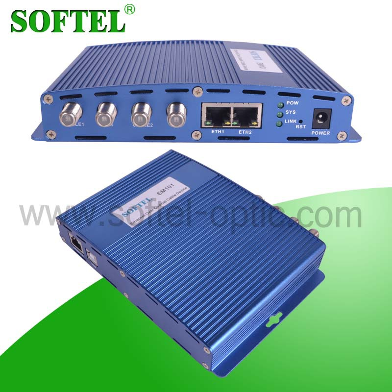 < Softel>Transmitting Max 500M 2 TV Inouts CATV EoC Head End In Coax Network