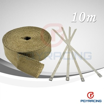 "2""x 32' Premium Exhaust Heat Wrap Manifold Wrap Titanium Lava Fiber Thermal Heat Wrap + 4 pcs Ties"