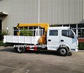 good performance dongfeng crew cabin boom lift truck with crane of 5 ton capacity