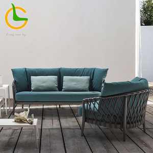Hot sale waterproof new aluminum rattan wicker garden furniture modern outdoor sofa