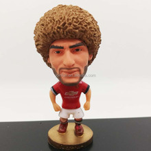 Custom world cup 7CM plastic miniatuer soccer player figure toys factory
