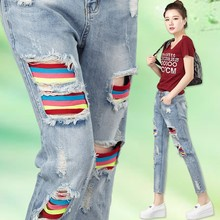 2016 New Models Branded Denim Pants Women Colored Skinny Custom Logo Jeans