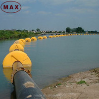 China Large Diameter Customized Gold Color Pipe Floater for Dredging