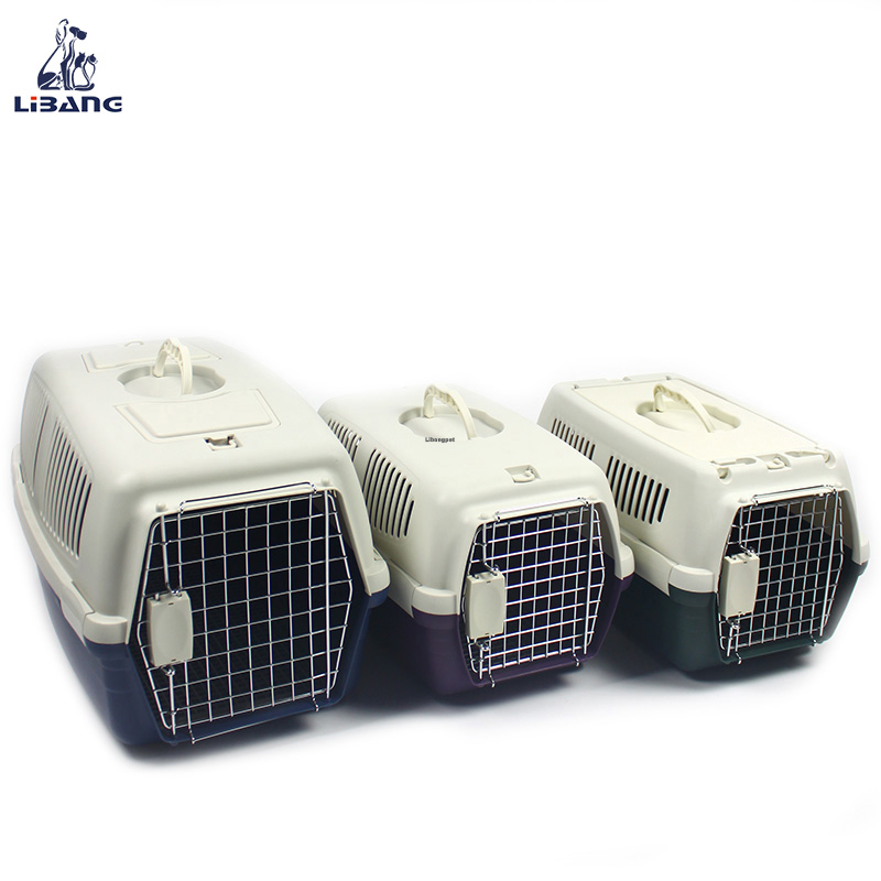 Multi-color Portable Transport Crate Airline Approved Pet Carriers